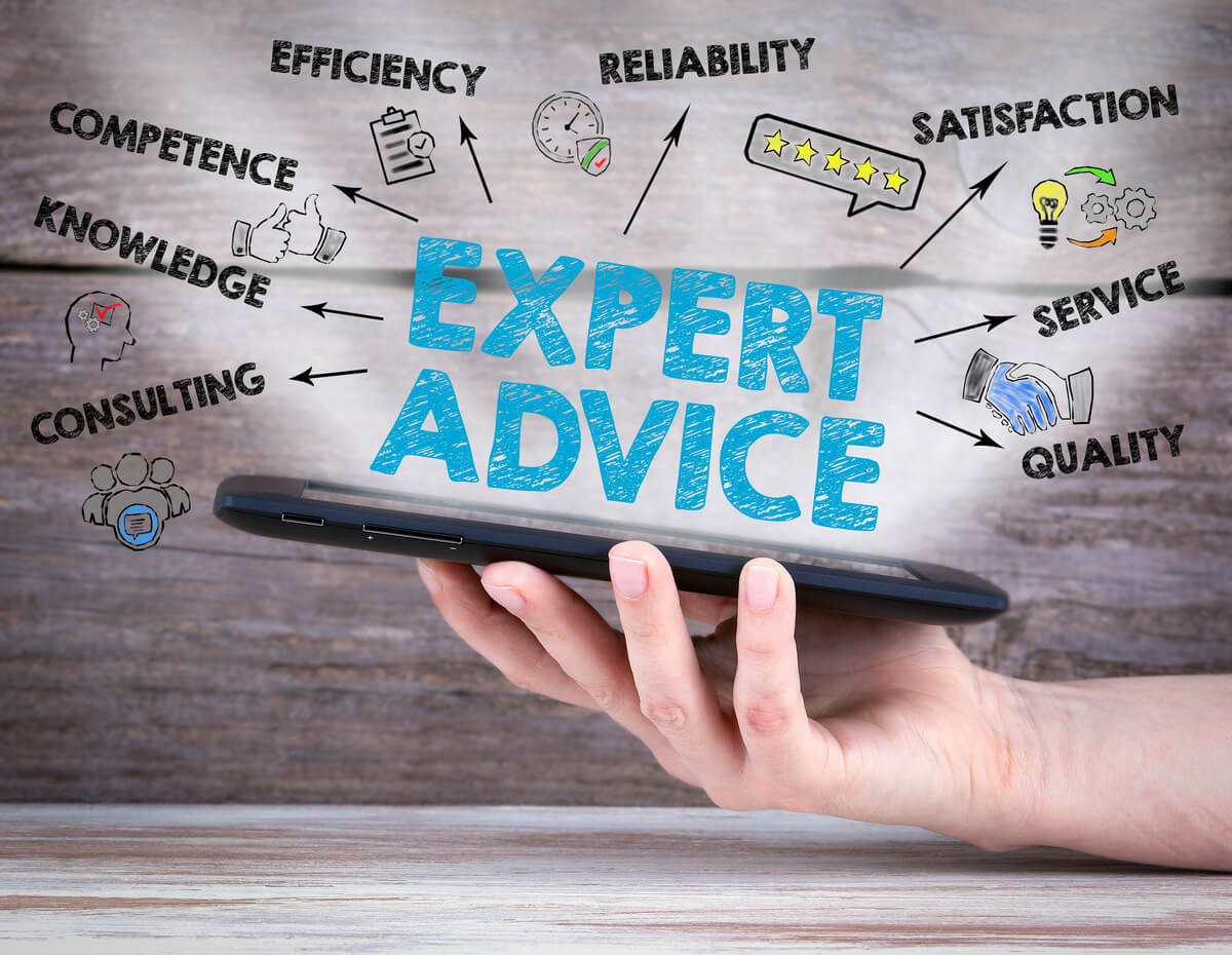 take advice from experts image